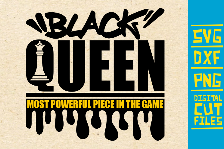 Download Free Black Queen Chess Piece Dripping Graphic By Svgyeahyouknowme for Cricut Explore, Silhouette and other cutting machines.