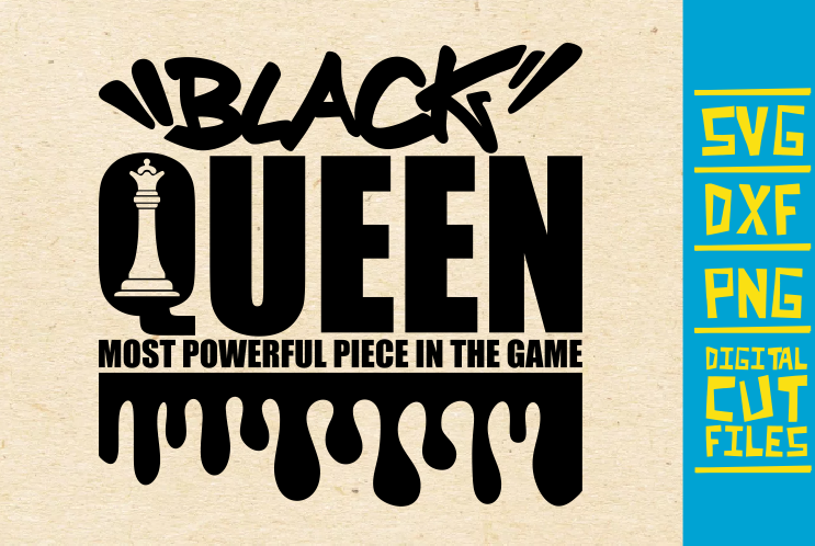 Download Black Queen Svg, Chess Piece, Dripping (Graphic) by ...