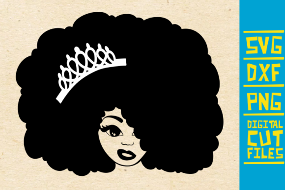 Download Free Black Queen With Crown Graphic By Svgyeahyouknowme Creative for Cricut Explore, Silhouette and other cutting machines.