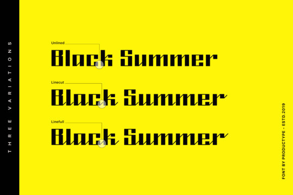Print on Demand: Black Summer Family Blackletter Font By Productype - Image 2