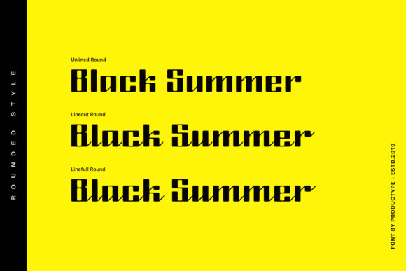 Black Summer Family Font By Productype Image 3