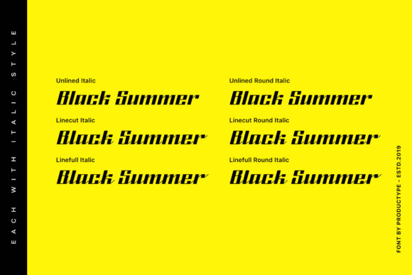 Print on Demand: Black Summer Family Blackletter Font By Productype - Image 4