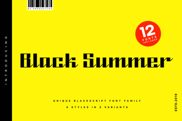 Print on Demand: Black Summer Family Blackletter Font By Productype - Image 1