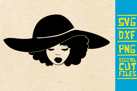 Download Free Black Woman With Hat Graphic By Svgyeahyouknowme Creative Fabrica for Cricut Explore, Silhouette and other cutting machines.