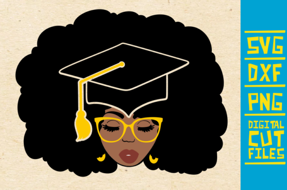 Download Free Black And Educated Afro Girl Graphic By Svgyeahyouknowme for Cricut Explore, Silhouette and other cutting machines.