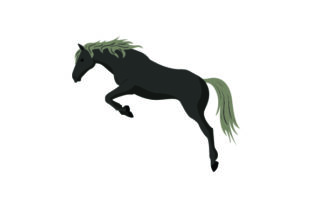 Black Horse Jumping Craft Design By Creative Fabrica Crafts