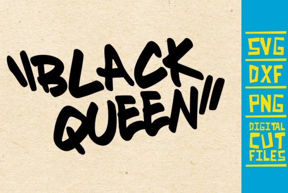 Download Free Black Queen Graffiti Afro Women Graphic By Svgyeahyouknowme for Cricut Explore, Silhouette and other cutting machines.