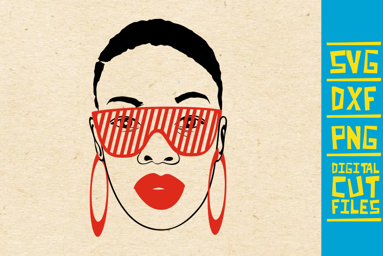 Download Free Black Woman Sunglasses Melanin Graphic By Svgyeahyouknowme for Cricut Explore, Silhouette and other cutting machines.