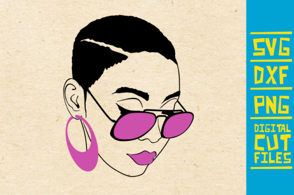 Black Woman With Glasses Graphic By Svgyeahyouknowme Creative