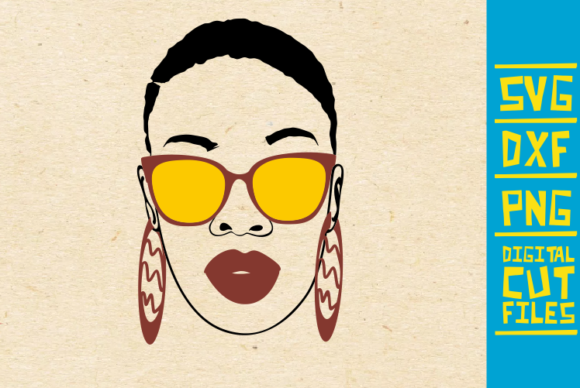 Black Woman With Sunglasses Svg Melanin Graphic By