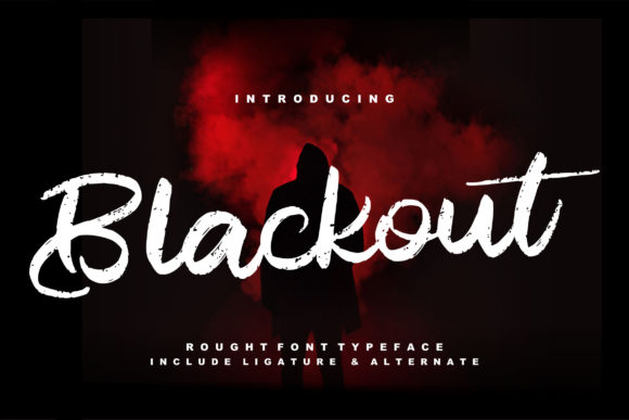 Print on Demand: Blackout Script & Handwritten Font By Vunira