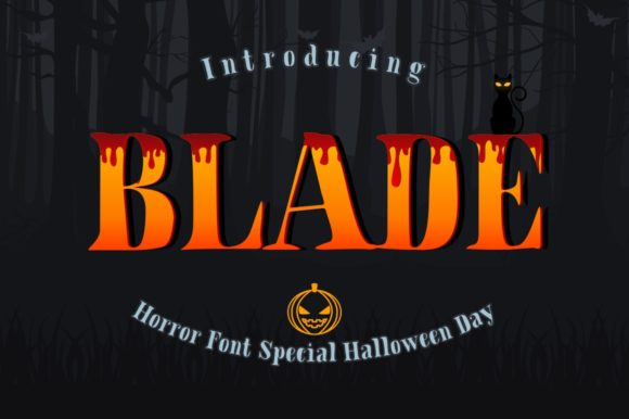 Print on Demand: Blade Display Font By FadeLine