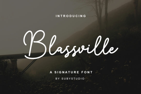 Print on Demand: Blassville Script & Handwritten Font By Suby Store