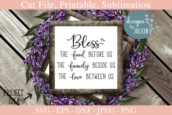 graphic relating to Bless the Food Before Us Printable called Bless the Foods Thanksgiving Estimate