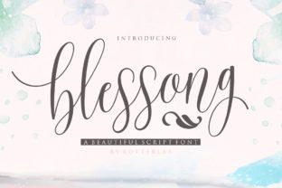 Download Free Blessong Font By Rotterlabstudio Creative Fabrica for Cricut Explore, Silhouette and other cutting machines.