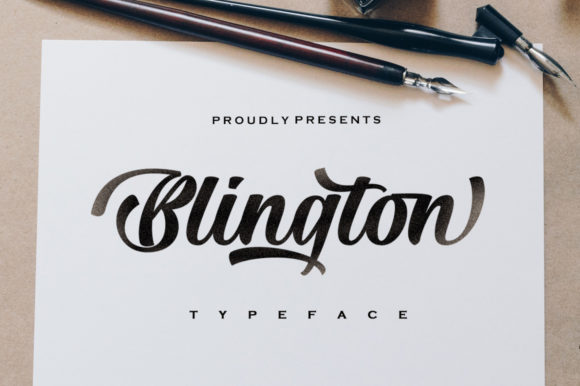 Print on Demand: Blington Script & Handwritten Font By letterfreshstudio
