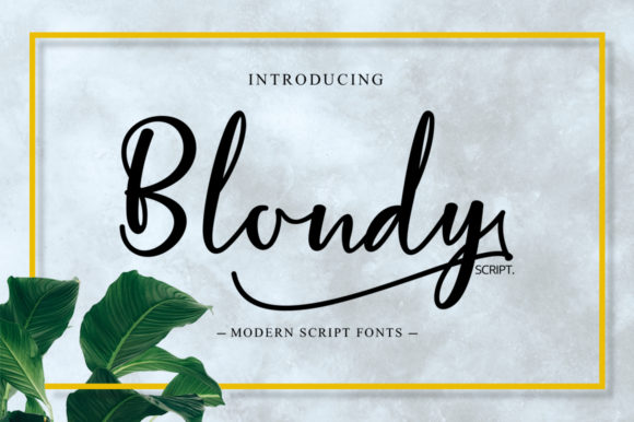 Print on Demand: Blondy Script Script & Handwritten Font By bandithandmade17
