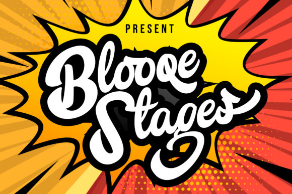 Print on Demand: Blooqe Stages Script & Handwritten Font By Vunira
