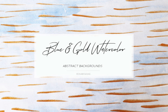 Download Free Blue Gold Abstract Backgrounds Graphic By Bonadesigns Creative for Cricut Explore, Silhouette and other cutting machines.