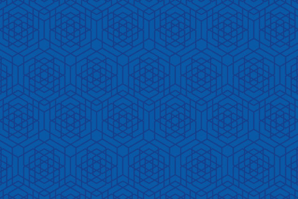 Print on Demand: Blue Hexagon Pattern Graphic Patterns By noory.shopper