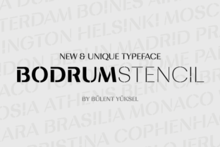 Bodrum Stencil Font By buyuksel