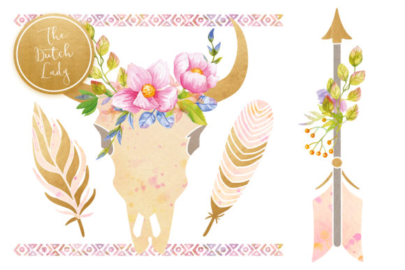 Bohemian Dream Clipart Set