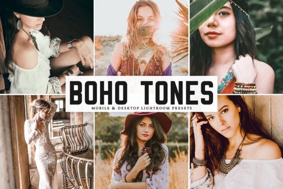 Print on Demand: Boho Tones Pro Lightroom Presets Graphic Actions & Presets By Creative Tacos