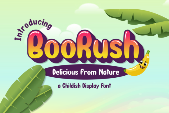 Print on Demand: BooRush Display Font By nurfdesigns