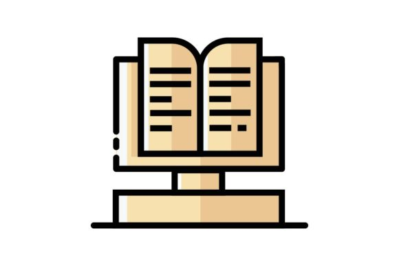 Download Free Book Monument Icon Graphic By Home Sweet Creative Fabrica for Cricut Explore, Silhouette and other cutting machines.