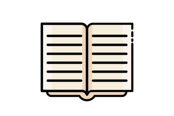 Book Open Icon Graphic By Home Sweet