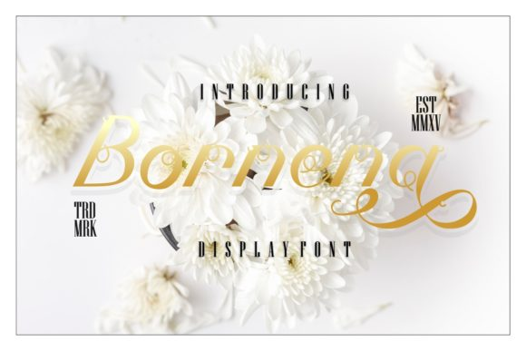 Print on Demand: Bornena Script & Handwritten Font By putracetol