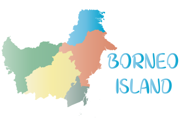 Download Free Borneo Island Map Graphic By Babeh Creative Fabrica for Cricut Explore, Silhouette and other cutting machines.