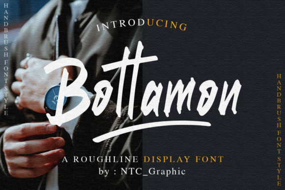 Print on Demand: Bottamon Display Font By dwikrisdiantoro9