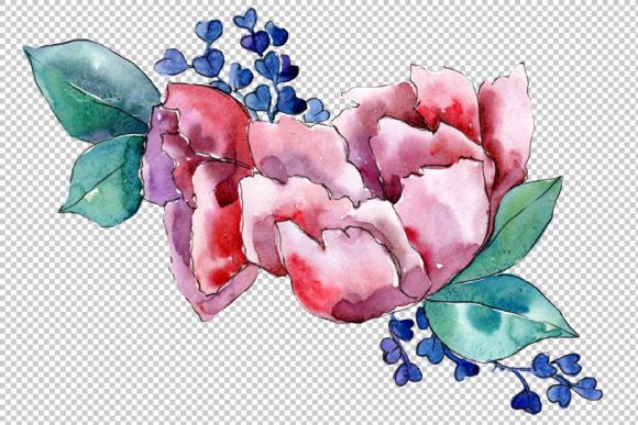 Download Free Bouquet Heart Joy Watercolor Png Graphic By Mystocks Creative for Cricut Explore, Silhouette and other cutting machines.