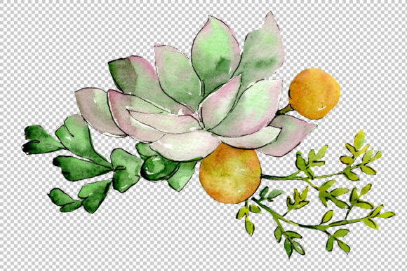 Print on Demand: Bouquet of Flowers Hugs Watercolor Png Graphic Illustrations By MyStocks - Image 2