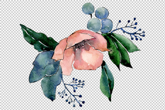 Print on Demand: Bouquet of Flowers Hugs Watercolor Png Graphic Illustrations By MyStocks - Image 3
