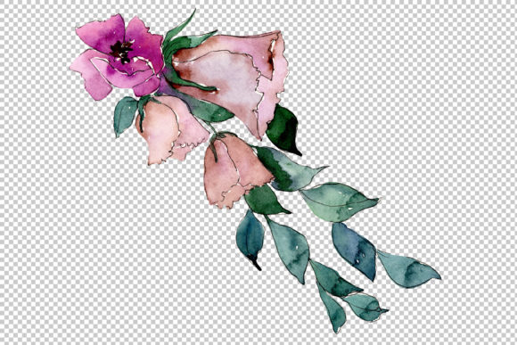 Print on Demand: Bouquet of Flowers Splendor Watercolor Graphic Illustrations By MyStocks - Image 2