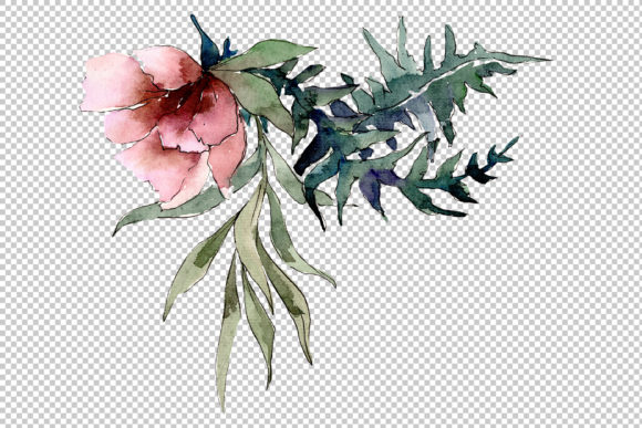 Print on Demand: Bouquet of Flowers Splendor Watercolor Graphic Illustrations By MyStocks - Image 4
