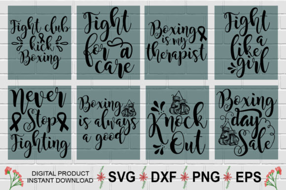Download Free Boxing Design Bundle Graphic By Aesthetic Studio Creative Fabrica for Cricut Explore, Silhouette and other cutting machines.