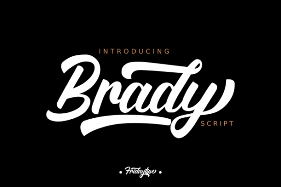 Print on Demand: Brady Script & Handwritten Font By Fridaytype
