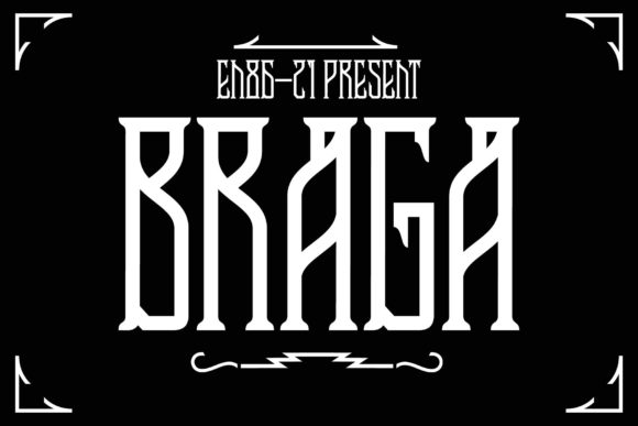 Print on Demand: Braga Display Font By EN86-21