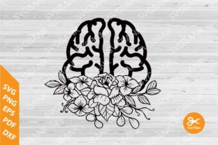 Brain Floral Graphic By svgBank