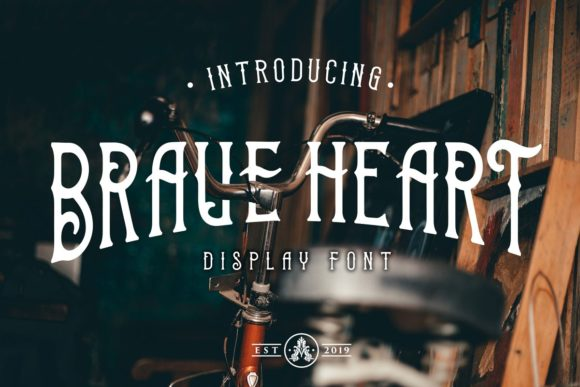 Print on Demand: Brave Heart Display Font By Arthy