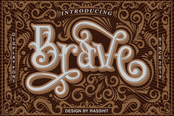 Print on Demand: Brave Display Font By Rasshit.dsgn