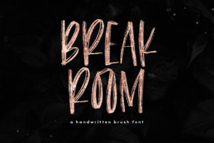 Breakroom Font By KA Designs