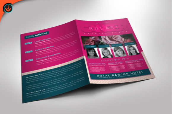 Download Free Breast Cancer Charity Event Program Graphic By Seraphimchris for Cricut Explore, Silhouette and other cutting machines.