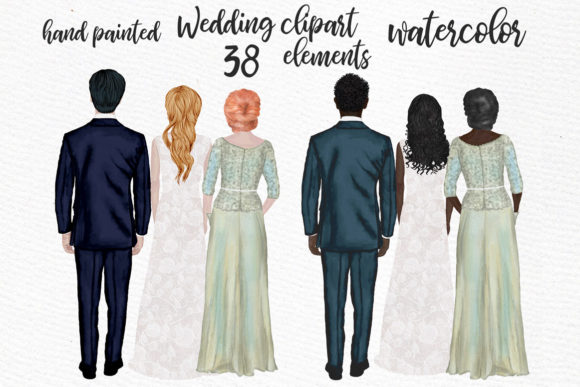 Bride Clipart Wedding People Mother Gráfico Ilustraciones Por LeCoqDesign