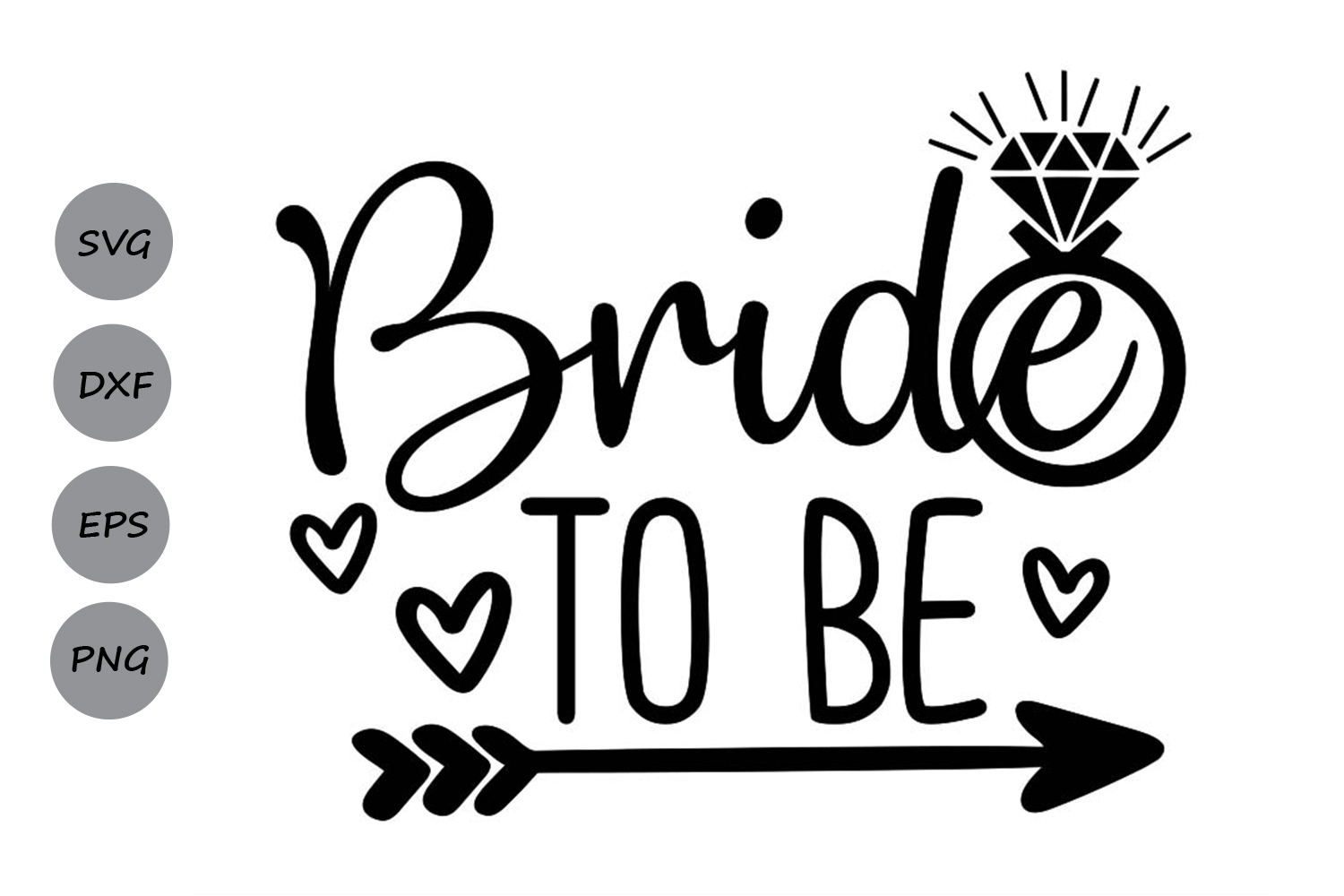 Download Free Bride To Be Svg Graphic By Cosmosfineart Creative Fabrica for Cricut Explore, Silhouette and other cutting machines.