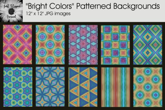 Bright Colors Patterned Graphic By justclippinaround