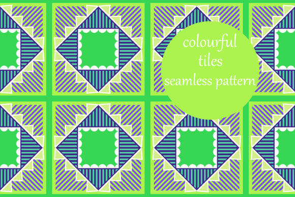 Print on Demand: Bright Digital Geometric Tiles Graphic Patterns By brightgrayart